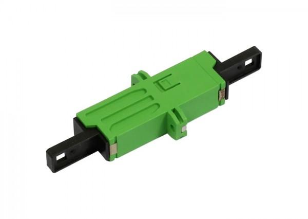 LWL-Kupplung, LSH(E2000APC)-Buchse/LSH(E2000APC)-Buchse, 9/125u Singlemode, grün, duplex, PVC, Kera