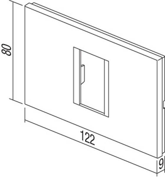 TEM Serie Modul Rahmen OL COVER PLATE LINE1/3M PW