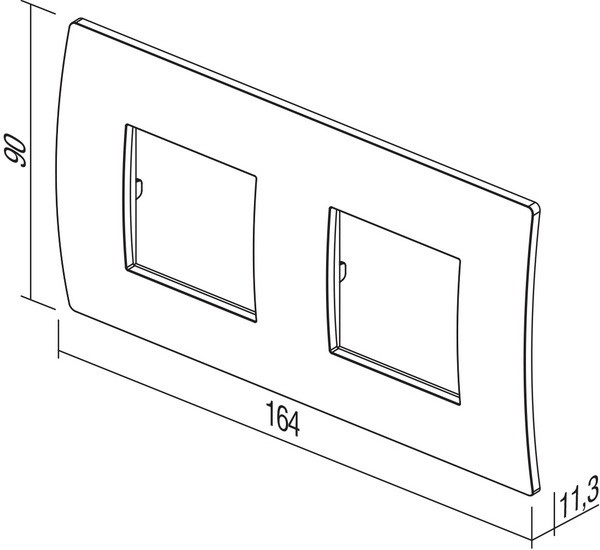 TEM Serie Modul Rahmen OP COVER PLATE PURE2x2M GY