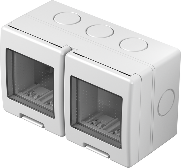 TEM Serie Modul Aufputzgehäuse IP55 BOX NO CUBOIP55 2x2M PW