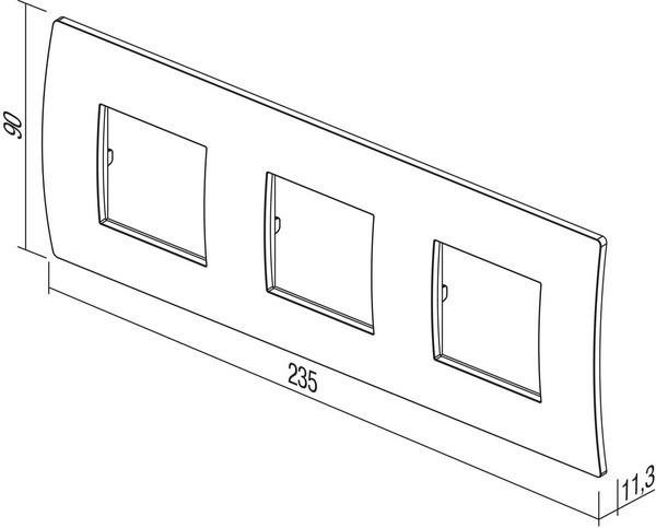 TEM Serie Modul Rahmen OP COVER PLATE PURE3x2M MS