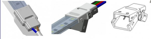 Synergy 21 LED FLEX Strip zub. Easy Connect Strip to Wire 12/14mm IP67