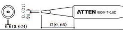 ATTEN T900-0.8D / Ersatzlötspitze 0,8mm