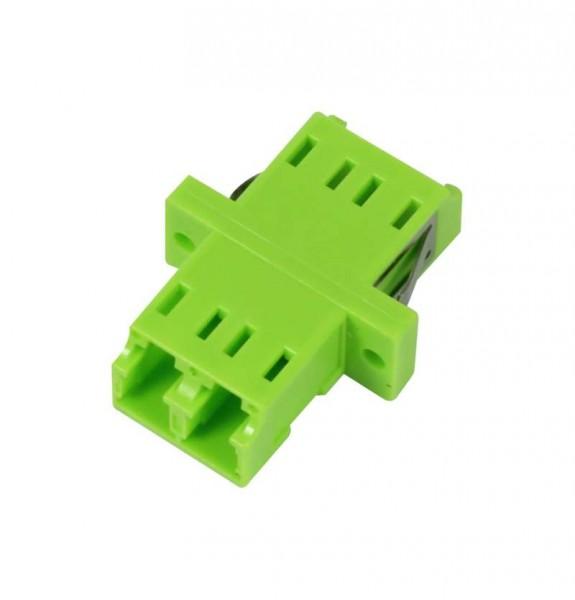 LWL-Kupplung, LC-Buchse/LC-Buchse, 50/125u Multimode, duplex, PVC, Keramikhülse, OM5, mit Flansch, S