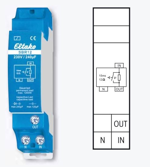 Eltako Strombegrenzungsrelais kapazitiv SBR12