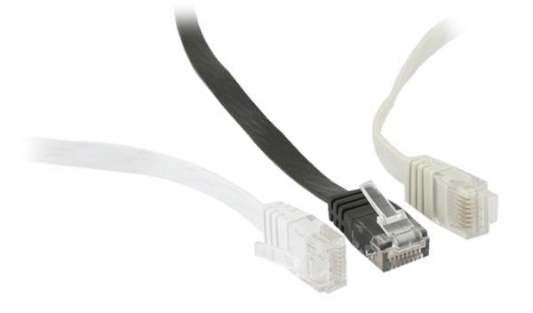 Patchkabel RJ45 UTP(U/UTP). 7.5m grau, CAT6, PVC, Flach, Synergy 21,