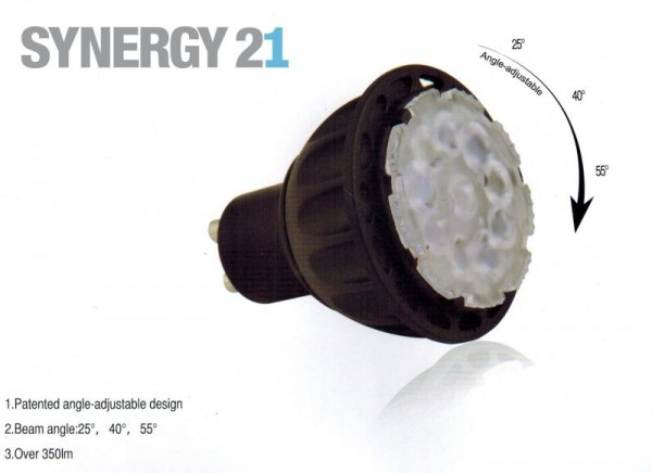 Synergy 21 LED Retrofit GX5, 3 6W ww 25°/40°/55°