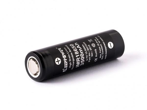 Synergy 21 Akku 18650 Keeppower IMR18650/Panasonic NCR18650GA 3,6V - 3,7V 3500mAh Li-Ionen/Battery A