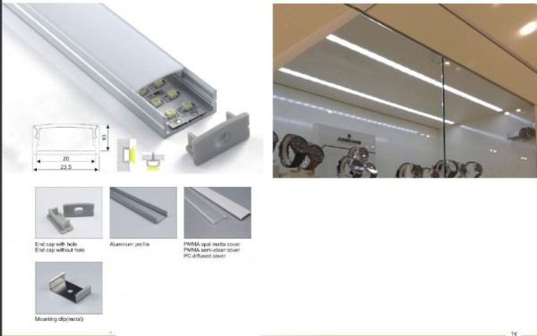 Synergy 21 LED U-Profil 200cm, ALU014 weiss / white