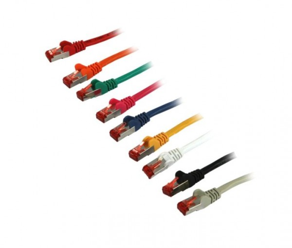 Patchkabel RJ45, CAT6 250Mhz, 15m rot, S-STP(S/FTP), Synergy