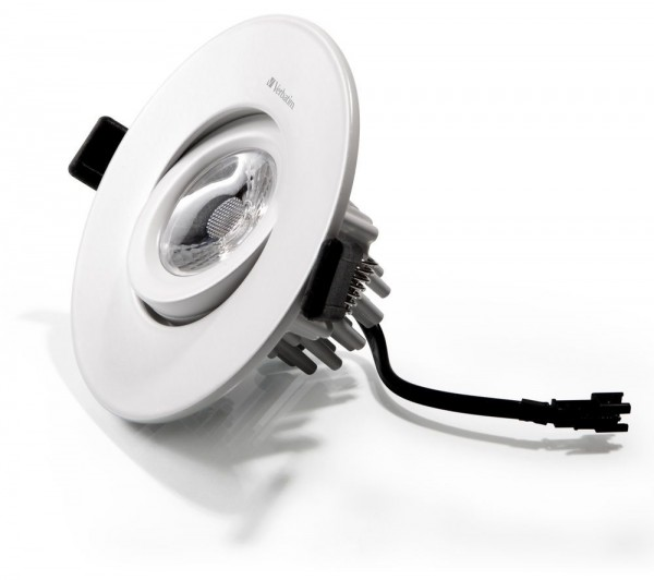 Synergy 21 LED Einbauspot 12W weiß ww Verbatim DIM 25°
