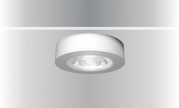 Synergy 21 LED Deckeneinbauspot Helios silber, rund, Aufputzrahmen