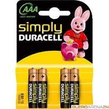 Batterien Micro AAA 1,5V *Duracell* Simply - 4er Pack