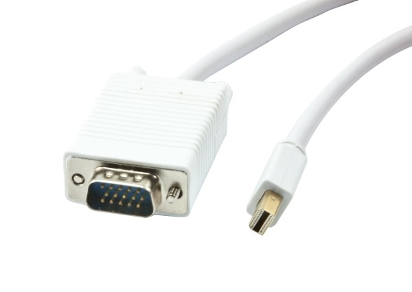 Kabel Video DisplayPort Mini 1.1 => VGA, ST/ST, 3m, Full HD 1920*1080@60hz, Synergy21,