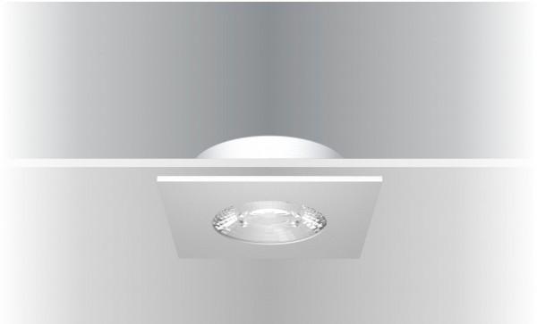 Synergy 21 LED Deckeneinbauspot Helios weiß, quadratisch, warmweiß