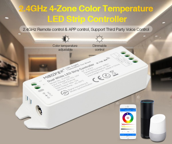 Synergy 21 LED Controller dual white (CCT) DC12/24V 4 Zonen *Milight/Miboxer*