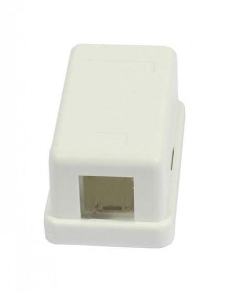 LWL-Dosen AP, 1-fach, Reinweiss, mit Kupplung, OM2 Multi Mode beige, Synergy 21,