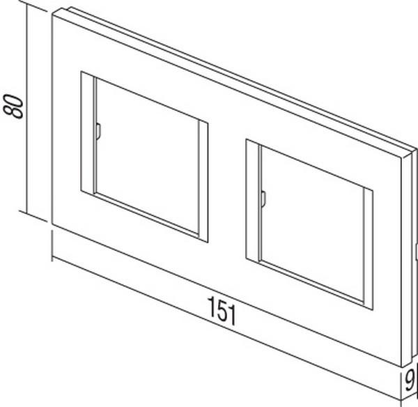 TEM Serie Modul Rahmen OL COVER PLATE LINE2x2M NB