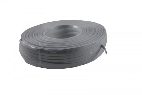 Kabel TK Flach 8 pol. 100m WEIß,flex, Flachkabel, Ring, Synergy 21,