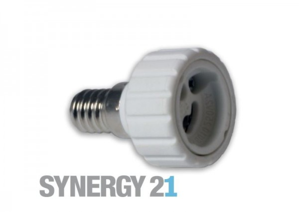Synergy 21 LED Adapter für LED-Leuchtmittel E14->GU10