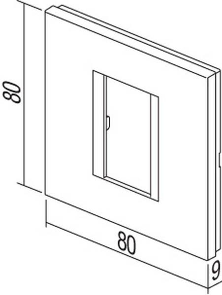 TEM Serie Modul Rahmen OL COVER PLATE LINE1/2M SB