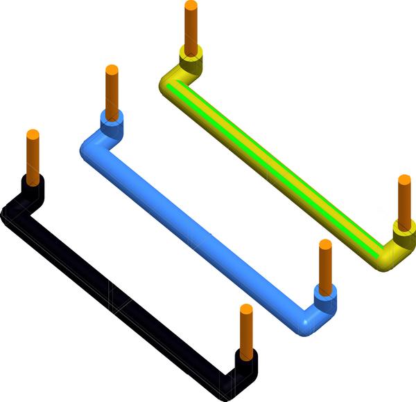 TEM Serie Modul Sets LINK WIRE SET3x2,5mm2 2M 3x10/