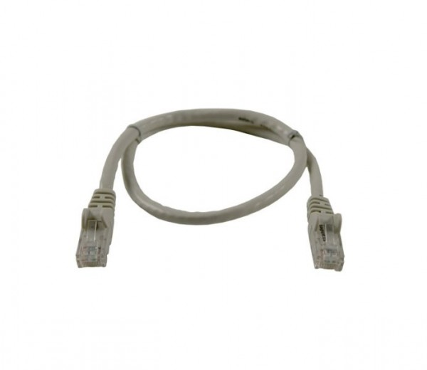 Patchkabel RJ45 UTP(U/UTP). 0.5m grau, CAT6, PVC, Synergy 21