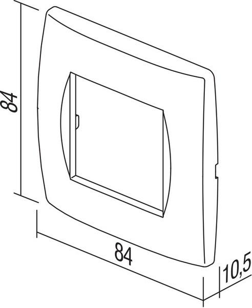 TEM Serie Modul Rahmen OS COVER PLATE SOFT2M WE
