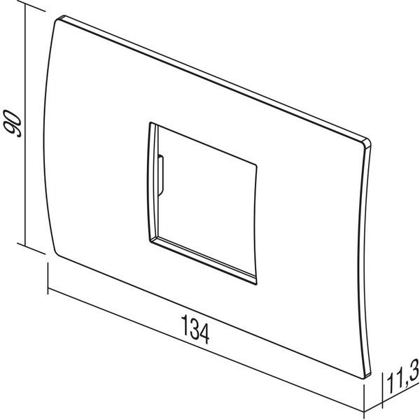 TEM Serie Modul Rahmen OP COVER PLATE PURE2/3M WE
