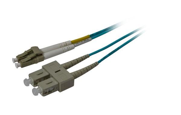 LWL-2-Faser-Patchk. 2mtr.LC-SC, 50/125um, OM3, AD=3mm, Synergy 21,