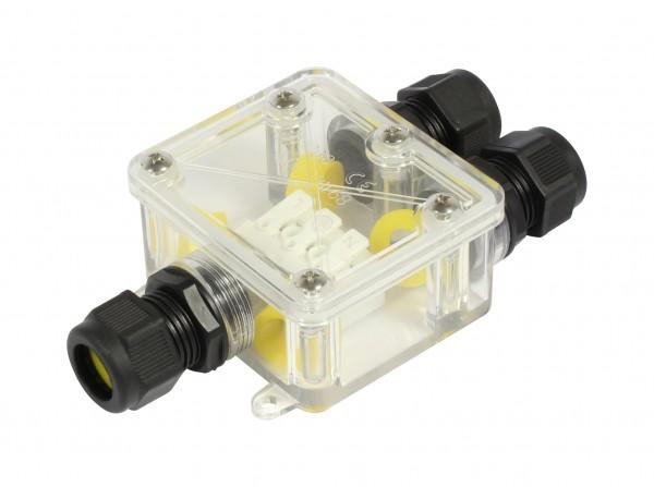 Synergy 21 - Wasserdichte Verbinder Box 3 Ports transparent