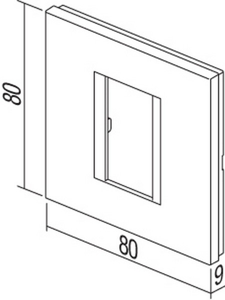 TEM Serie Modul Rahmen OL COVER PLATE LINE1/2M IB