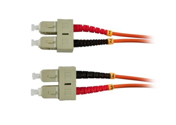 LWL-2-Faser-Patchk. 2mtr.SC-SC, 50/125um, OM2, AD=3mm, Synergy 21,