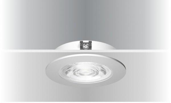 Synergy 21 LED Deckeneinbauspot Helios silber, rund, warmweiß