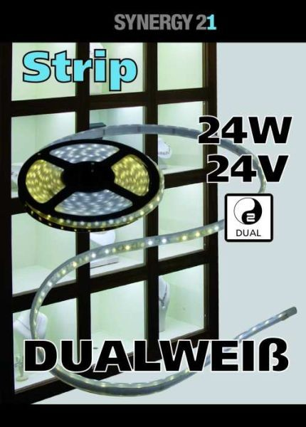 Synergy 21 LED Flex Strip dual white (CCT) DC24V 24W pro Farbe IP20