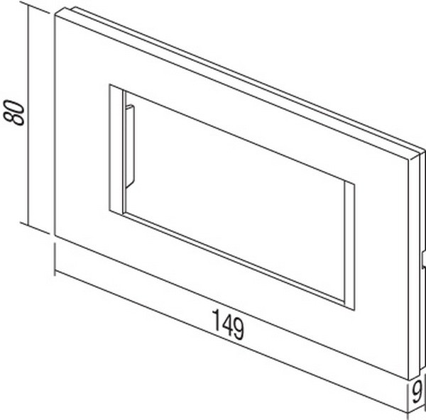 TEM Serie Modul Rahmen OL COVER PLATE LINE4M PW
