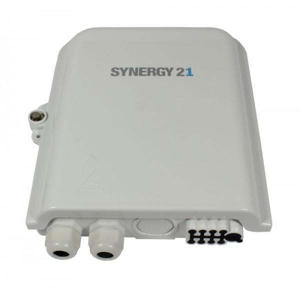 FTTH Wandgehäuse, IP65, 1xEingang/ 8xAusgang, Synergy 21
