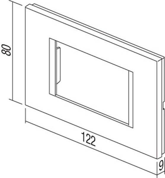 TEM Serie Modul Rahmen OL COVER PLATE LINE3M PW