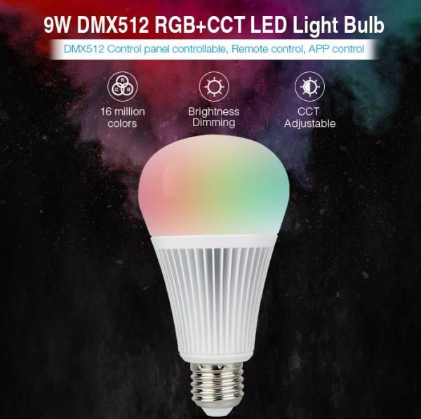 Synergy 21 LED Retrofit E27 9W RGB-WW Lampe DMX *Milight/Miboxer*