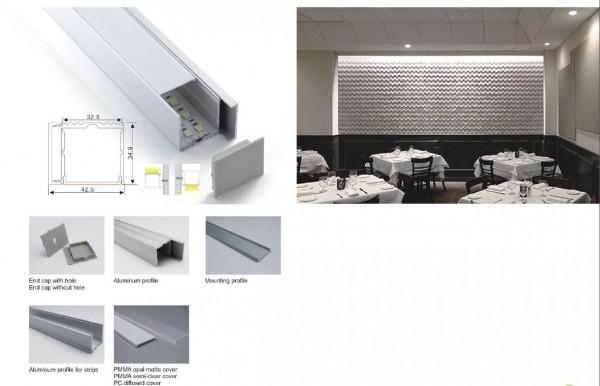 Synergy 21 LED U-Profil 200cm, ALU019