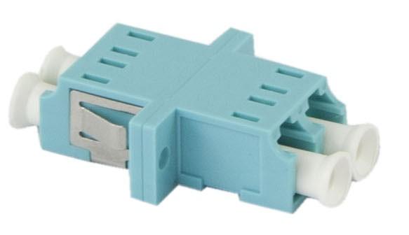 LWL-Kupplung, LC-Buchse/LC-Buchse, 50/125u Multimode, duplex, PVC, Keramikhülse, OM3, mit Flansch, S