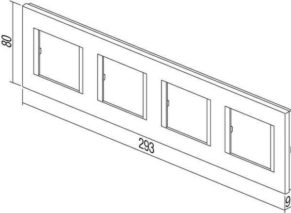 TEM Serie Modul Rahmen OL COVER PLATE LINE4x2M ES