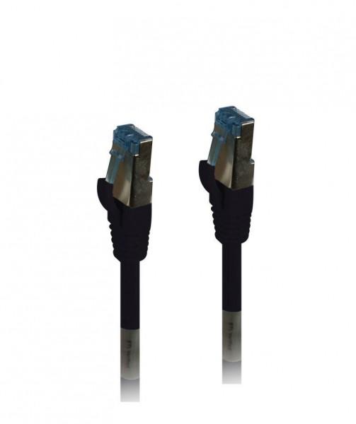 Patchkabel RJ45, CAT6A 500Mhz,15m, schwarz, S-STP(S/FTP), PUR(Außen/Outdoor/Industrie), AWG26, Syner