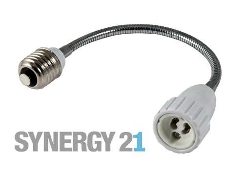 Synergy 21 LED Adapter für LED-Leuchtmittel E27->GU10 lang