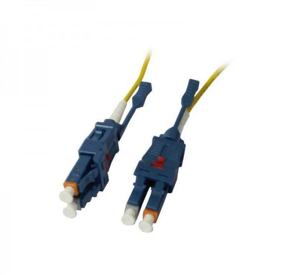 LWL-2-Faser-Patchk. 1.0mtr.LC-LC, 9/125um, OS2, Uniboot(drehbar), Push/Pull, AD=2mm, Synergy 21