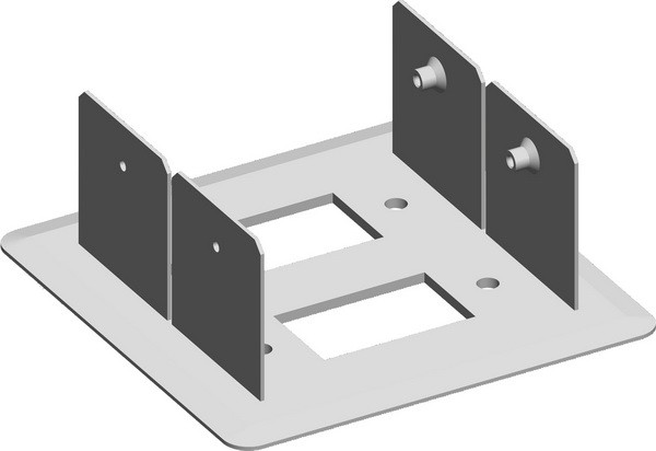 TEM Serie Modul Brüstungskanal FIXING PLATE MA DOUBLE2x 130x6