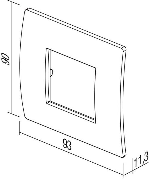 TEM Serie Modul Rahmen OP COVER PLATE PURE2M WB