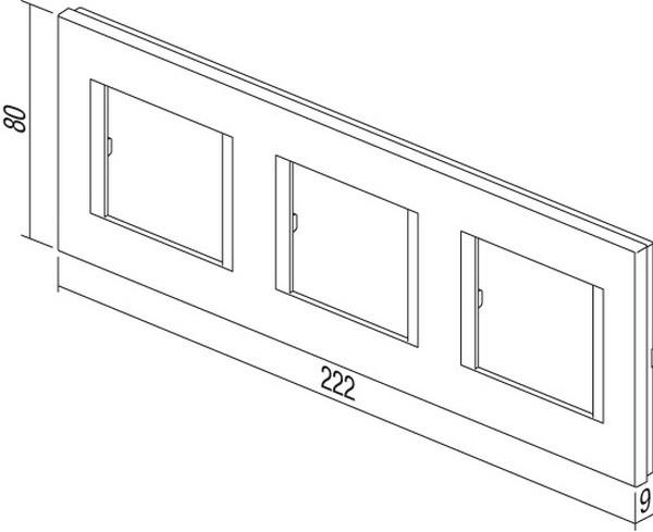 TEM Serie Modul Rahmen OL COVER PLATE LINE3x2M PW