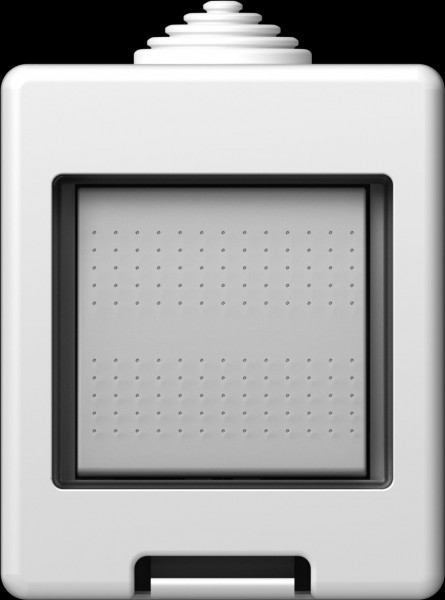 TEM Serie Modul Aufputzgehäuse IP55 BOX CUBO 2M Schalter 2x