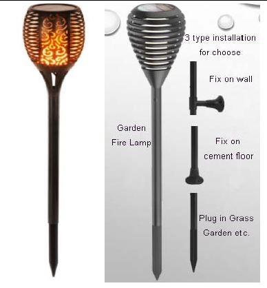 Synergy 21 LED Flame Serie Solar Garten Lampe
